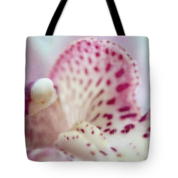 Tote Bag featuring the photograph Cattleya Orchid Abstract 1 by Jenny Rainbow
