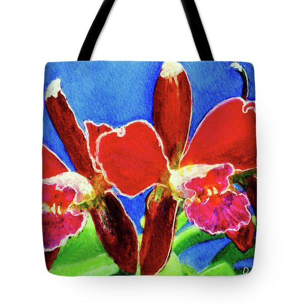 Cattleya Orchids Flowers #215 Tote Bag by Donald k Hall