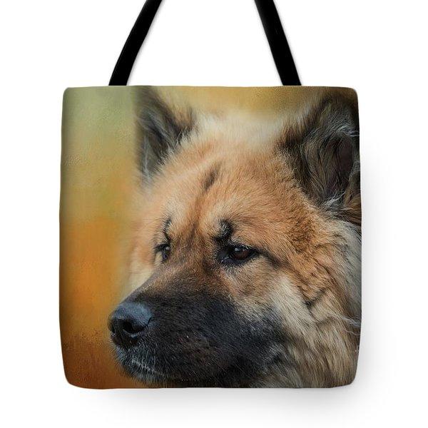 Caucasian Shepherd Dog Tote Bag by Eva Lechner