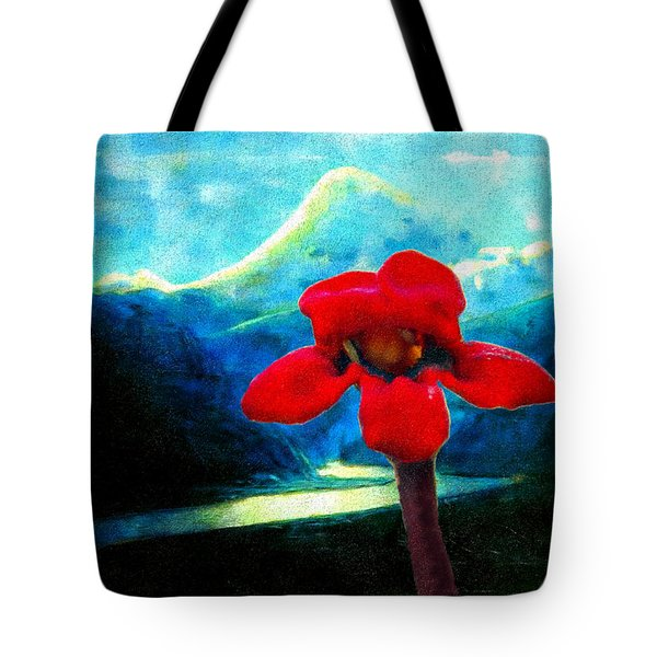 Tote Bag featuring the photograph Caucasus Love Flower II by Anastasia Savage Ealy