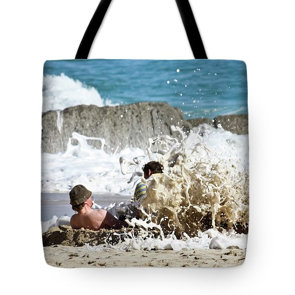 Tote Bag featuring the photograph Caught From Behind by Terri Waters