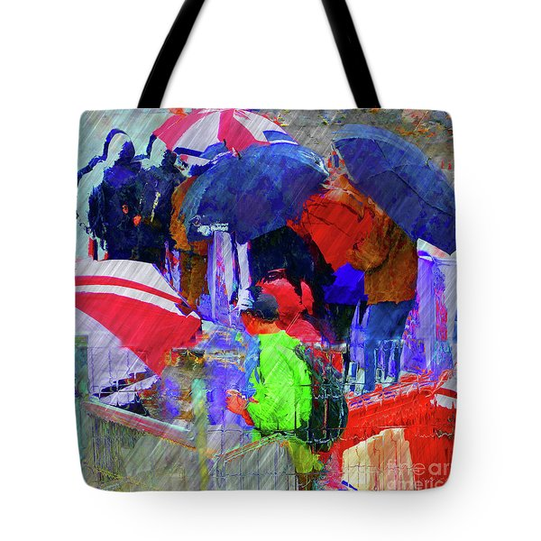 Caught In A Shower Tote Bag