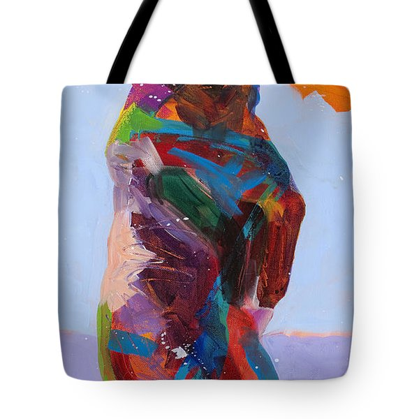 Caught In The Act Tote Bag by Tracy Miller