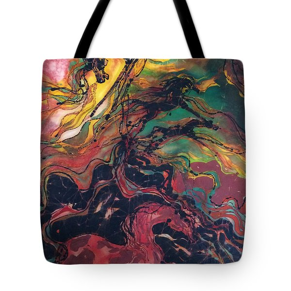 Caught In The Thunderstorm Tote Bag