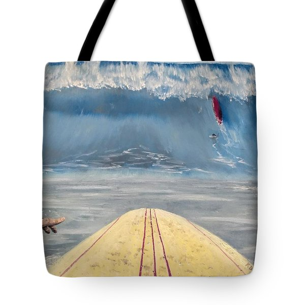 Tote Bag featuring the painting Caught Inside by Kevin Daly