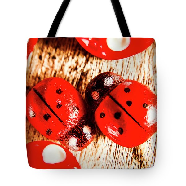 Caught The Love Bug Tote Bag