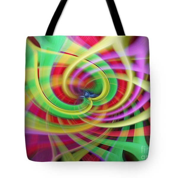 Caught Up In A Colorful Swirl Tote Bag