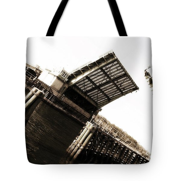 Tote Bag featuring the photograph Causeway Bridge Wrightsville Beach by Phil Mancuso