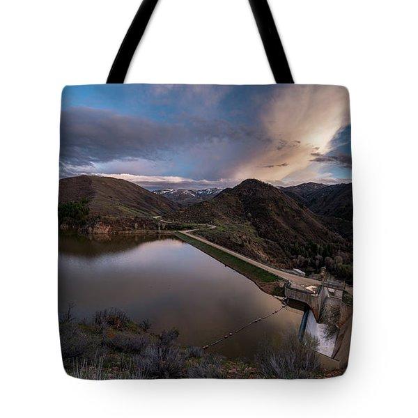 Causey Spring Sunset Tote Bag by Justin Johnson