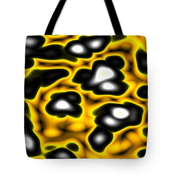 Tote Bag featuring the digital art Caution by Jeff Iverson