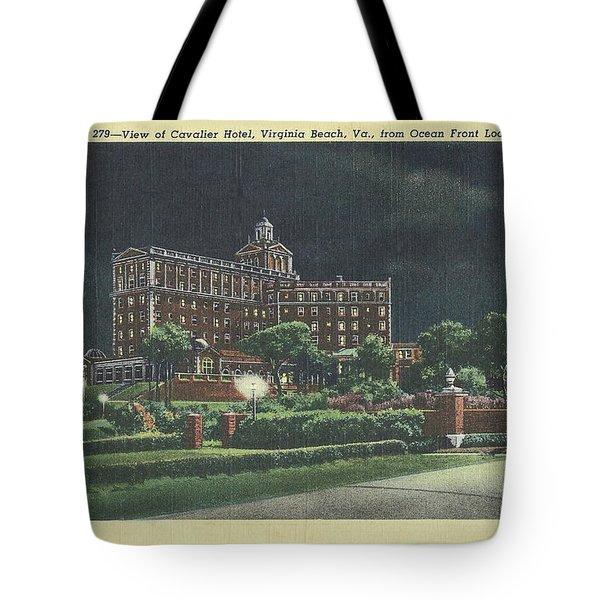 Cavalier Hotel Virginia Beach, Virginia 1940's Tote Bag