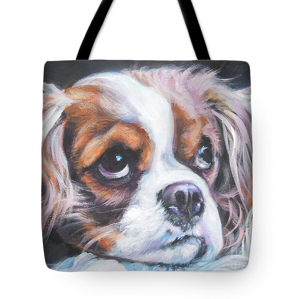 Cavalier King Charles Spaniel Blenheim Tote Bag by Lee Ann Shepard