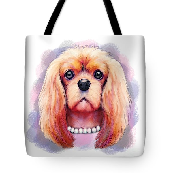 Tote Bag featuring the painting Cavalier Pearls  by Catia Lee
