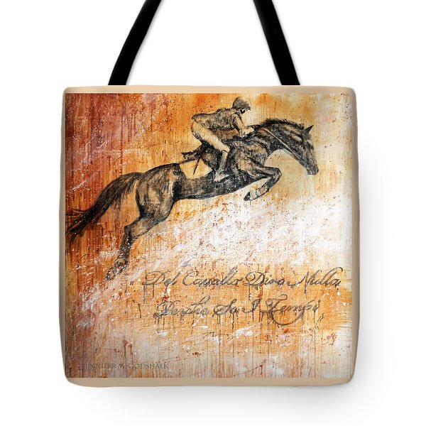 Cavallo Contemporary Horse Art Tote Bag by Jennifer Godshalk