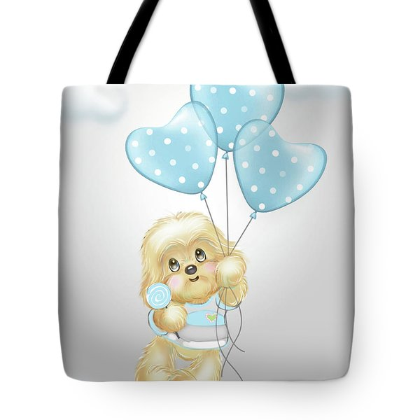 Tote Bag featuring the painting Cavapoo Toby Baby by Catia Lee