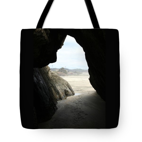 Tote Bag featuring the photograph Cave Dweller by Holly Ethan