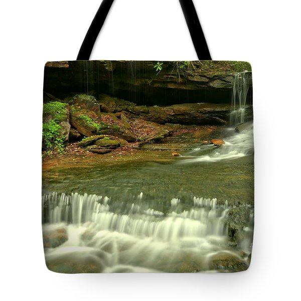 Cave Falls Cascades Tote Bag