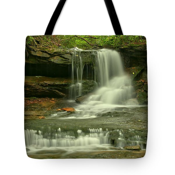 Cave Falls In The Laurel Highlands Tote Bag
