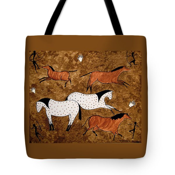 Cave Horses Tote Bag by Stephanie Moore