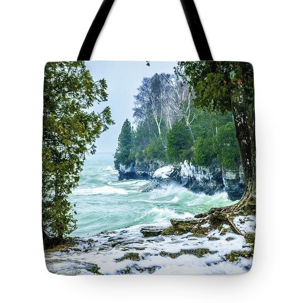 Cave Point #5 Tote Bag