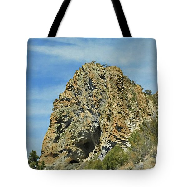Tote Bag featuring the photograph Cave Rock At Tahoe by Benanne Stiens