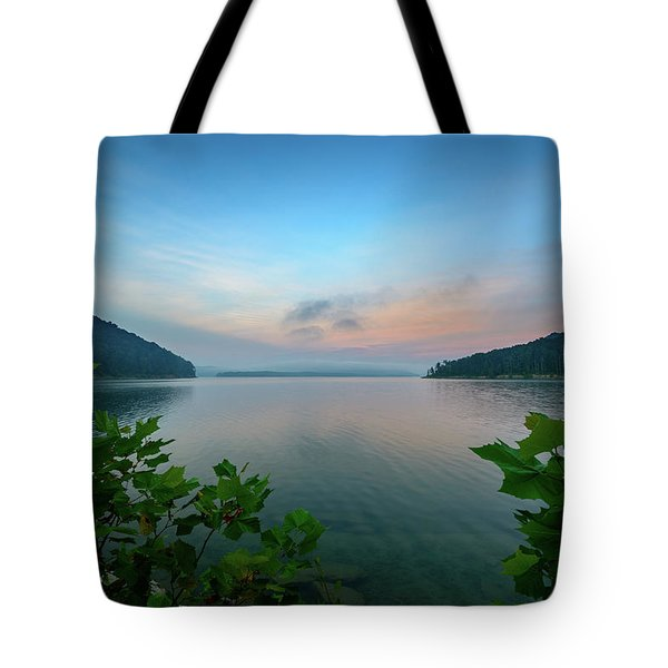 Cave Run Morning Tote Bag