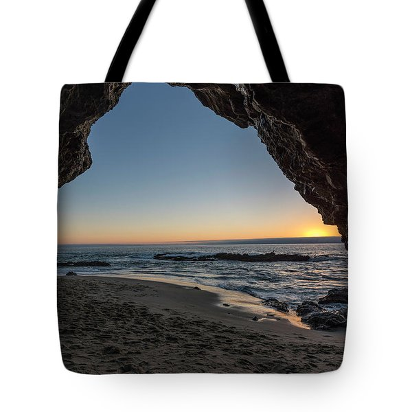 Cave Sunset Tote Bag