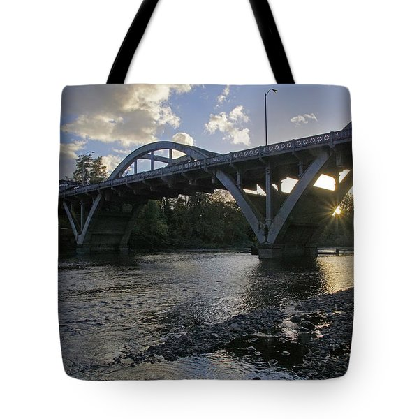 Caveman Bridge At Sunset Tote Bag