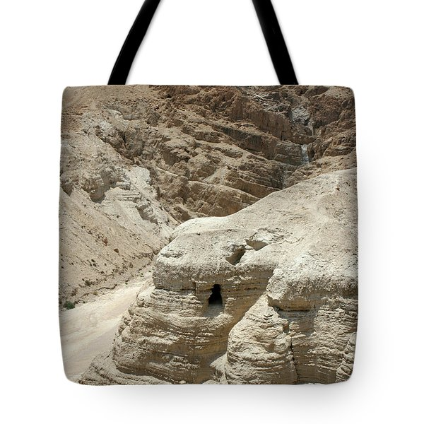 Tote Bag featuring the photograph Caves Of The Dead Sea Scrolls by Steven Frame