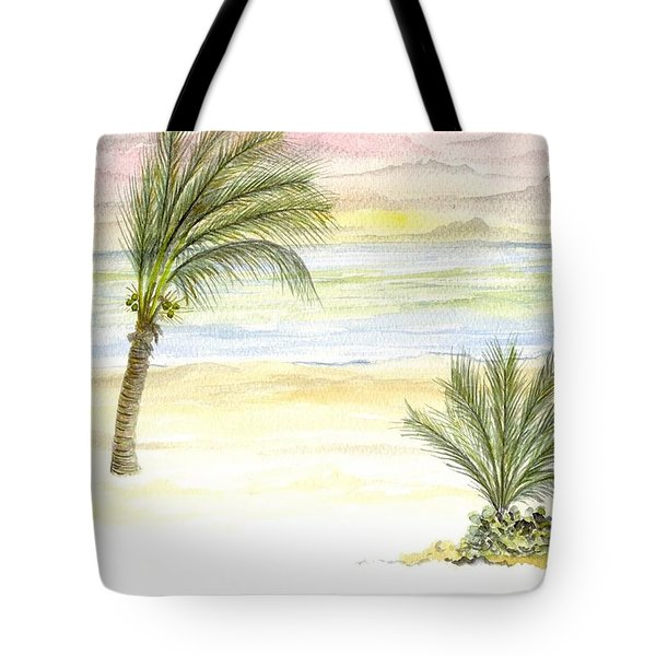 Tote Bag featuring the digital art Cayman Beach by Darren Cannell