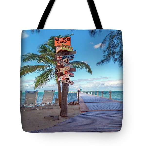 Cayman Islands Rum Point Lazy Day Tote Bag
