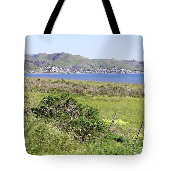 Tote Bag featuring the photograph Cayucos Coastline - California by Art Block Collections