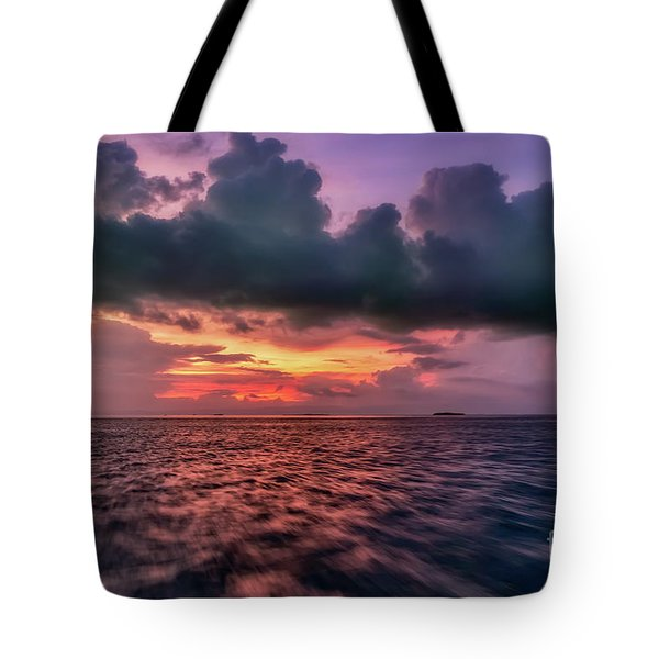 Tote Bag featuring the photograph Cebu Straits Sunset by Adrian Evans