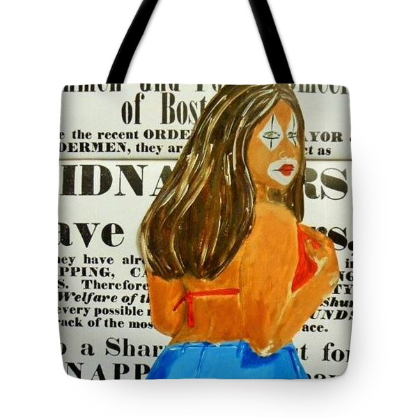 Cece Caution Tote Bag by Deedee Williams