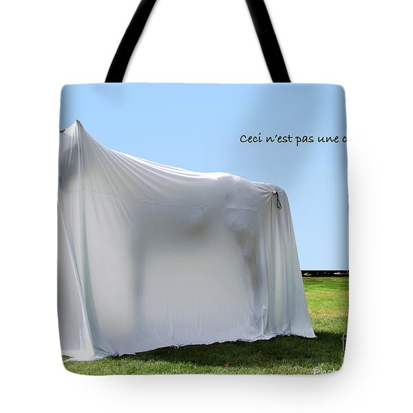 Tote Bag featuring the photograph Ceci N'est Pas Une Cheval by Bill Thomson