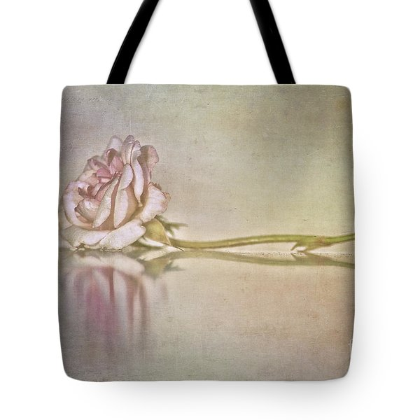 Cecile Brunner Tote Bag by Linda Lees