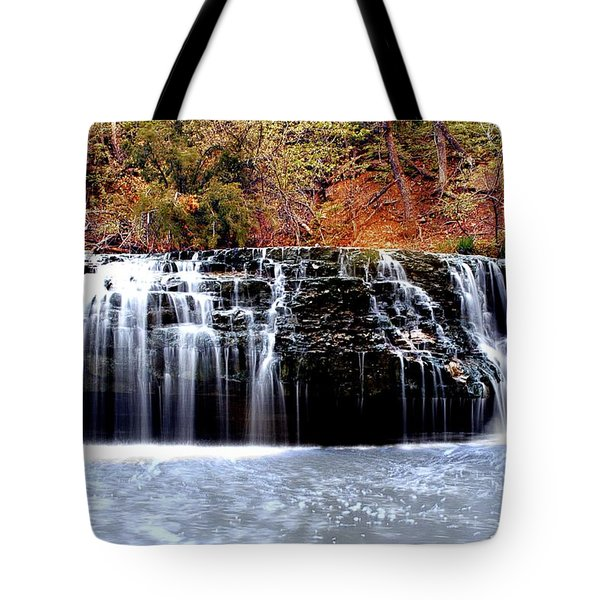 Cedar Creek Falls, Kansas Tote Bag