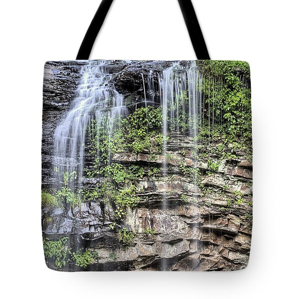 Tote Bag featuring the photograph Cedar Falls by JC Findley