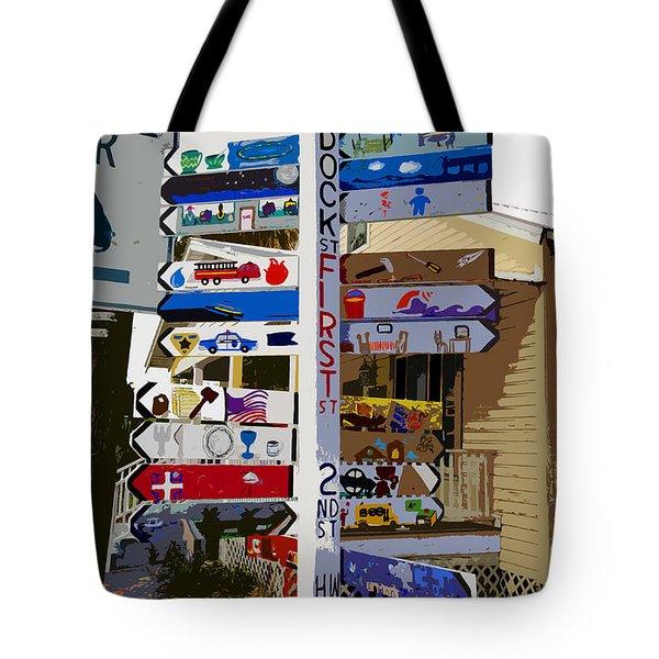 Cedar Key Directional Tote Bag by David Lee Thompson
