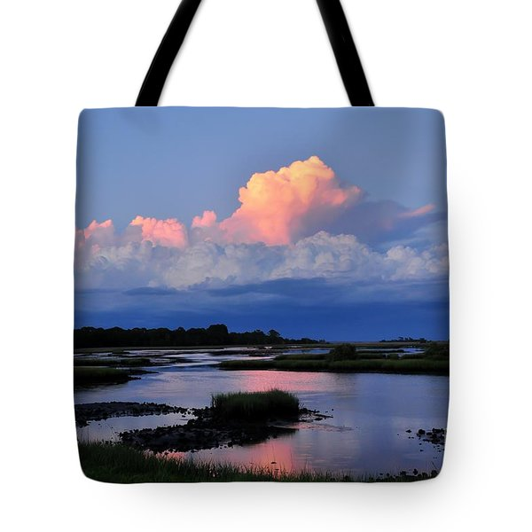 Cedar Key Sunset Tote Bag