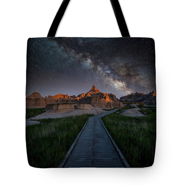 Tote Bag featuring the photograph Cedar Pass Milky Way by Darren White