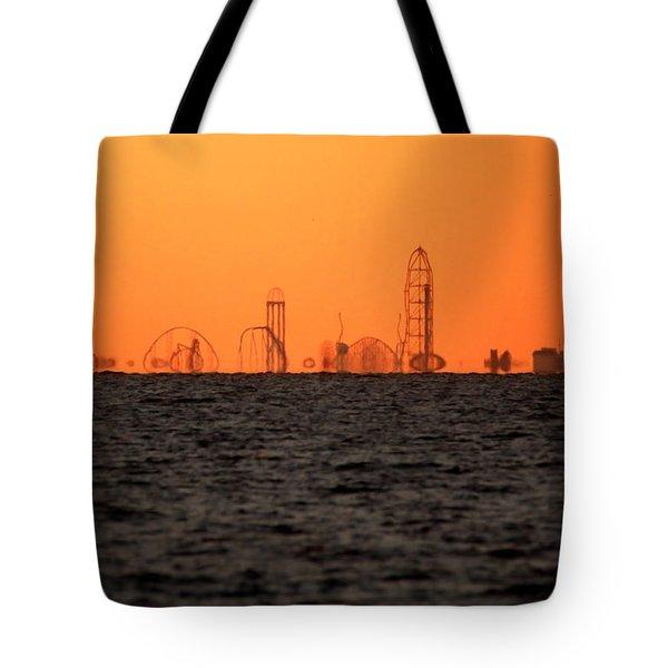 Cedar Point Skyline Tote Bag