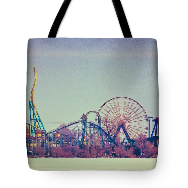 Cedar Point Skyline Tote Bag by Shawna Rowe