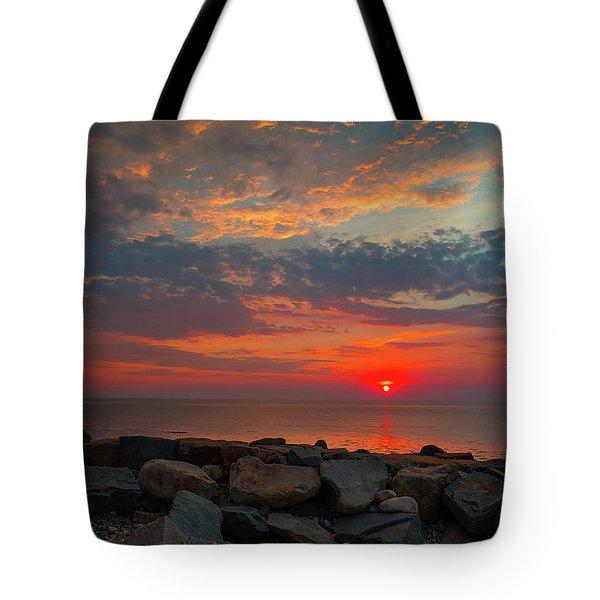 Cedar Point Sunrise Tote Bag