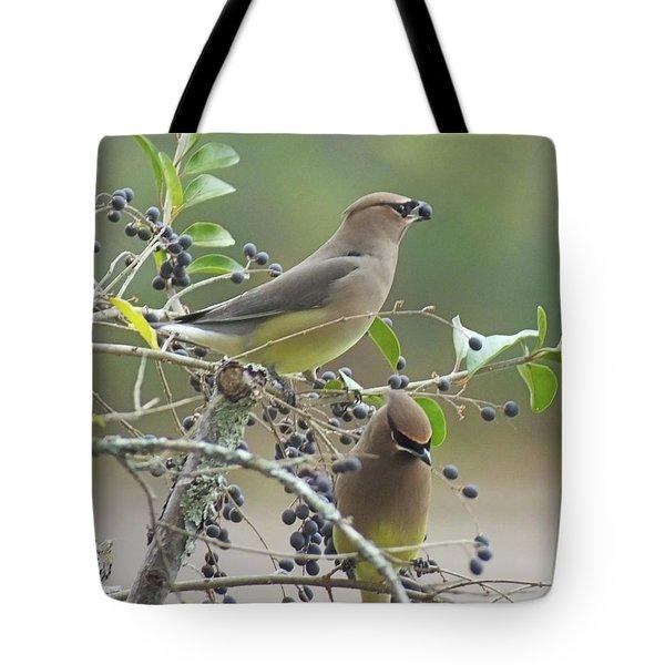 Cedar Wax Wings Tote Bag