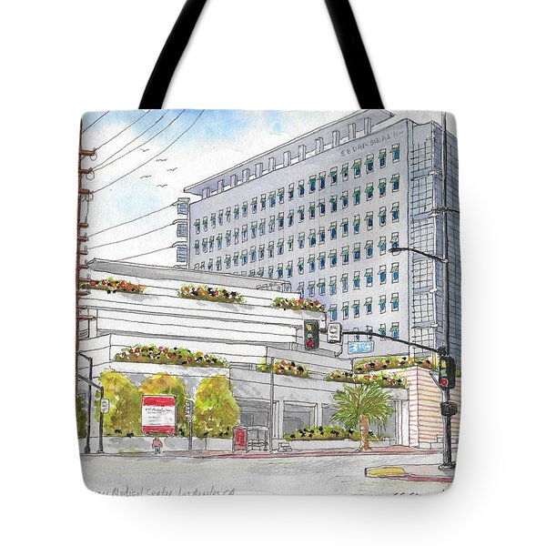 Cedars-sinai Medical Center, 3rd And San Vicente, West Hollywood, Ca Tote Bag
