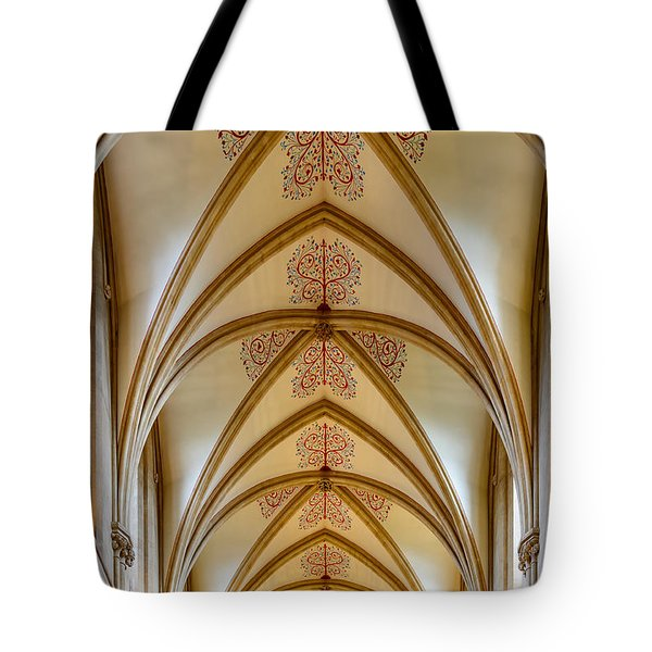 Ceiling, Wells Cathedral. Tote Bag
