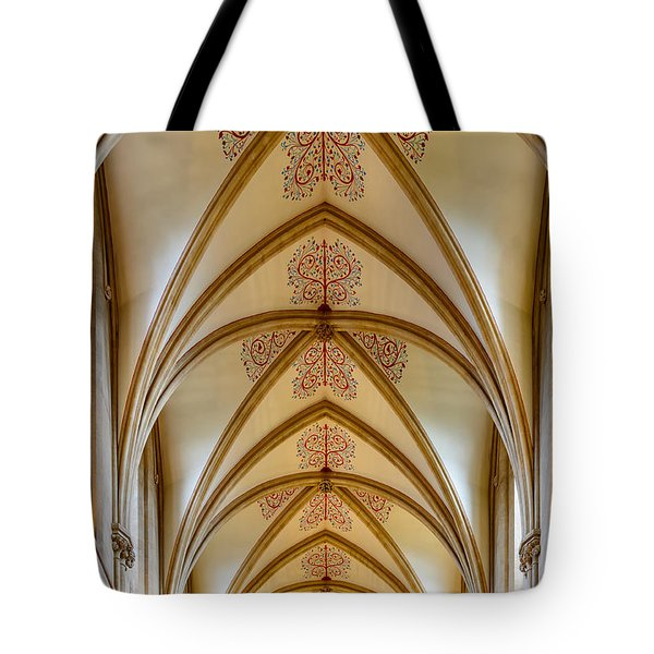 Ceiling, Wells Cathedral. Tote Bag by Colin Rayner