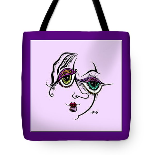 Tote Bag featuring the drawing Celebrate Diversity by Tanielle Childers