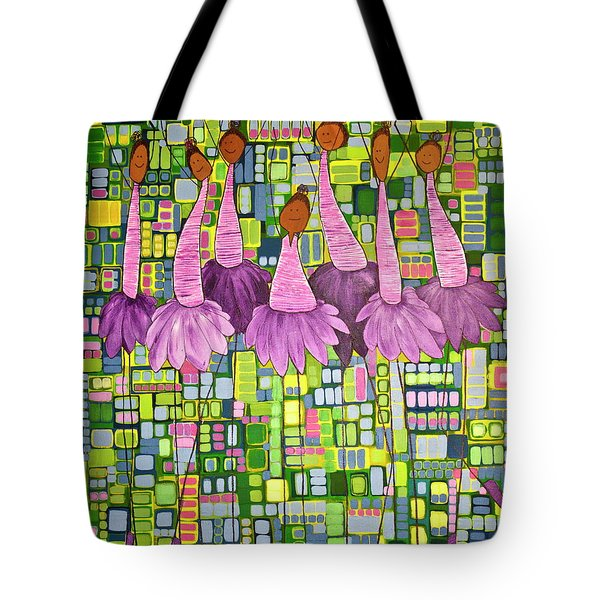 Tote Bag featuring the painting Celebrate by Donna Howard